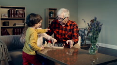 Kids Learning to Play Chess Stock Footage