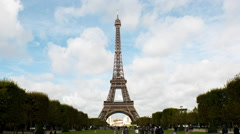 Time Lapse Zoom of the Eiffel Tower Daytime-  Paris France Stock Footage