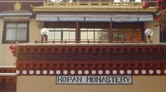 Facade of the Kopan monastery Stock Footage