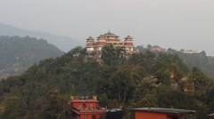 View of the complex of buildings of the Kopan monastery Stock Footage