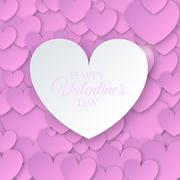 Heart for Valentines Day Background - stock illustration