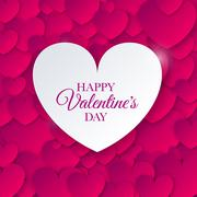 Heart for Valentines Day Background Stock Illustration