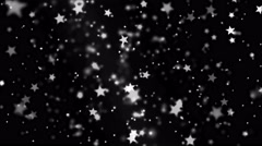Abstract Star Particle Background - Loop Black and White Stock Footage