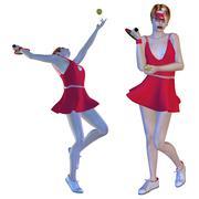 Female Tennis Player - stock illustration