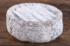 French cheese, whole tomme Stock Photos