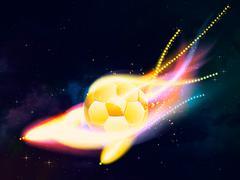 Flying Soccer Ball - stock illustration