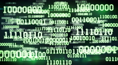 Abstract binary code Stock Footage