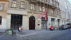 VIENNA - AUSTRIA, AUGUST 2015: sigmund freud museum home Stock Footage