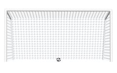 Soccer Goal with Ball Piirros