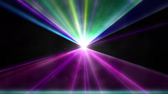 Multi-colored laser show. Stock Footage
