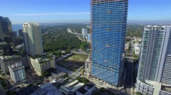 Brickell City aerial flythrough video - stock footage