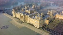 Blenheim Winter: Palace High View Stock Footage