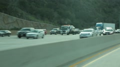 Passing Shot of Traffic on California Highway Stock Footage