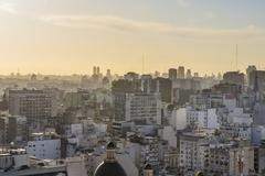 Aerial View of Buenos Aires Argentina - stock photo