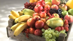 SELECTION OF ORGANIC FRUIT Stock Footage