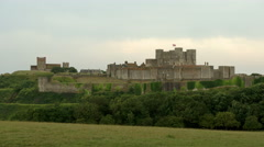 View of the castle in Dover Stock Footage