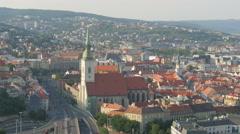 Bratislava old town view, slovakia, 4k Stock Footage