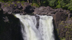 4K Waterfalls Forest Rainbow 03 - stock footage