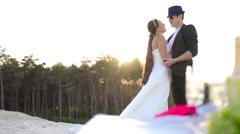 Picnic Honeymoon - stock footage