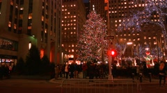 Video of The Christmas Tree in Rockefeller Center New York City - stock footage