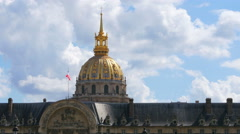 View of hotel national des invalides, napoleon tomb, paris, france Stock Footage