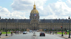 PARIS - FRANCE, AUGUST 2015: national des invalides, napoleon tomb Stock Footage