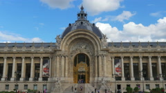 PARIS - FRANCE, AUGUST 2015: petit palais, small palace view Stock Footage