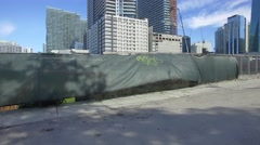 Aerial preconstruction site Brickell Stock Footage