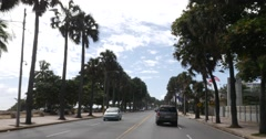 The famous Malecon Boulevard in Santo Domingo, Dominic Republic Stock Footage