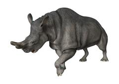 Brontotherium or Thunder Beast Stock Illustration