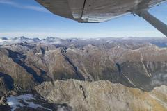 Aerial view Mount Aspiring National Park - stock photo
