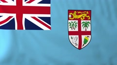 Flag of Fiji waving in the wind. - stock footage
