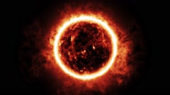 3D Sun / Exploding Fireball Animation (WITH AUDIO) - Wide - stock footage
