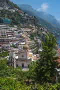 Small town of Positano, Amalfi Coast, Campania, Italy - stock photo