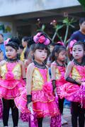 Stock Photo of Ayutthaya - NOVEMBER 20 : Parade for sporting day of The Joseph School on Nov