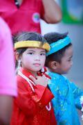 Ayutthaya - NOVEMBER 20 : Parade for sporting day of The Joseph School on Nov Stock Photos