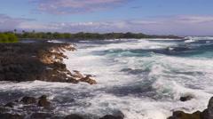 4K Ocean Waves And Rocks 01 Stock Footage