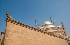 The great Mosque of Muhammad Ali Pasha or Alabaster Mosque is a mosque situat Stock Photos