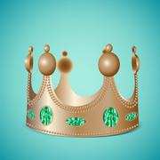 Bronze crown with gems Stock Illustration