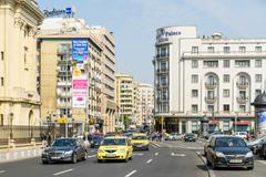 Rush Hour On Victory Avenue (Calea Victoriei) In Bucharest - stock photo