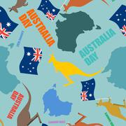 Australia day seamless pattern. Festivde backdrop for national holiday Austra Stock Illustration