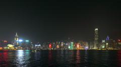 Hong Kong - Symphony of Lights in Time Lapse Stock Footage