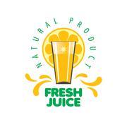Stock Illustration of logo of fresh juice