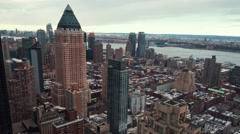 Manhattan skyline from sunrise to mid morning in timelapse  - stock footage