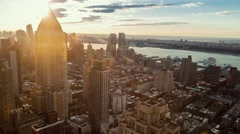Midtown Manhattan skyline from sunset to night in timelapse  Stock Footage