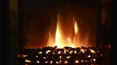 fireplace in the interior New Year - stock footage