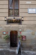 Buca Di S. Francesco Restaurant Arezzo Italy - stock photo
