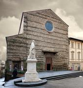 St Francis Basilica Arezzo Italy - stock photo