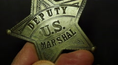 MARSHALL BADGE.  Stock Footage