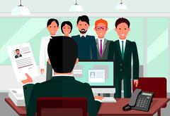 Hiring Recruiting Interview Stock Illustration